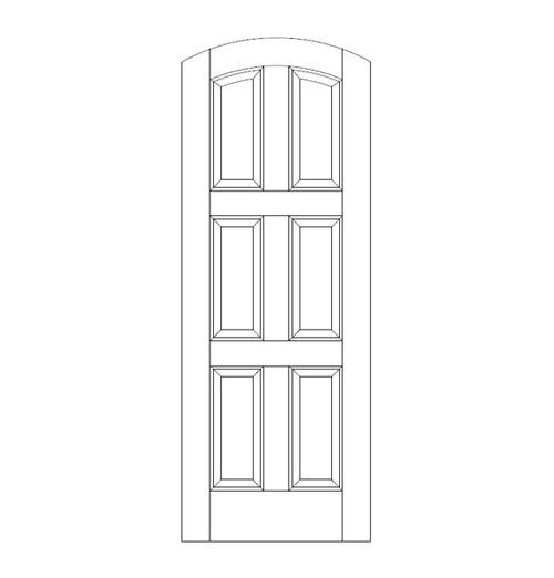 6-Panel Wood Door (DR6510)