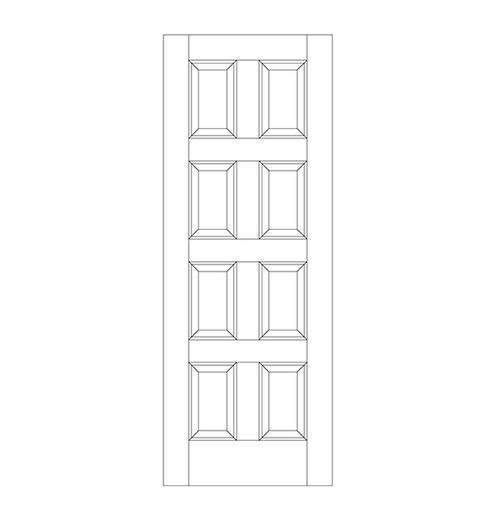 8 Panel Wood Door (DR8000)