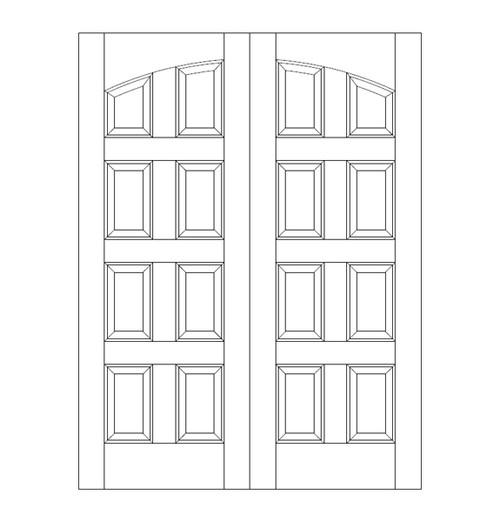 8 Panel Wood Door (DR8100CA)