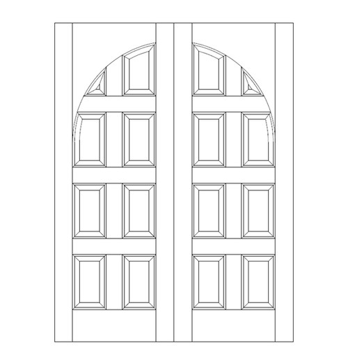 8-Panel Wood Door (DR8200CA)