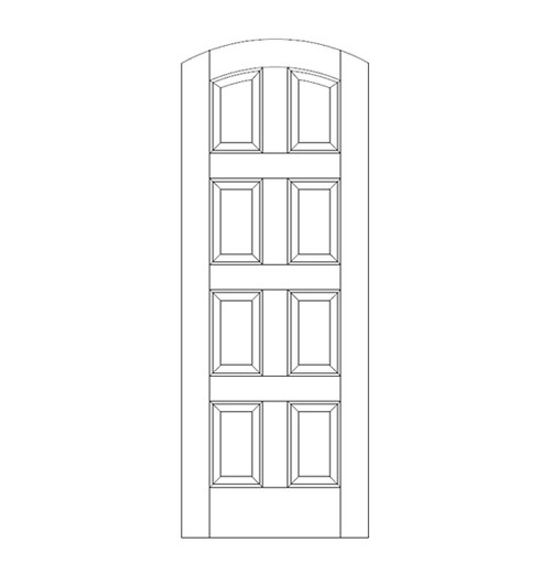 8-Panel Wood Door (DR8500)