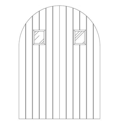 Plank Wood Door with Speakeasy (DP1600CA)