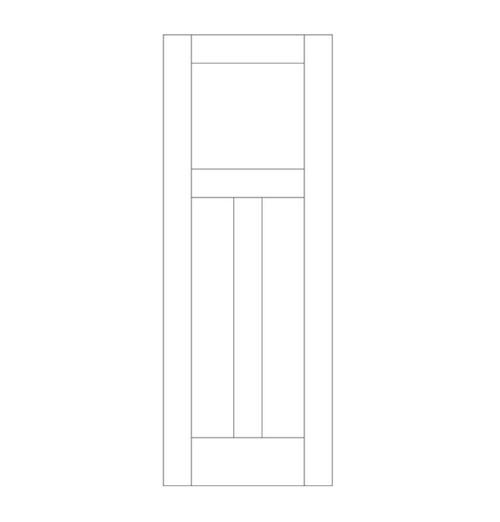 Flat Panel Wood Door (DM3010)