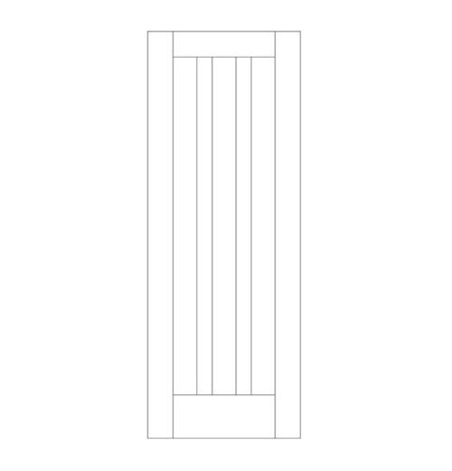 Flat Panel Wood Door (DM3020)