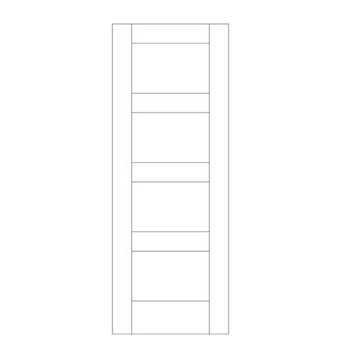 Flat Panel Wood Door (DM4000)
