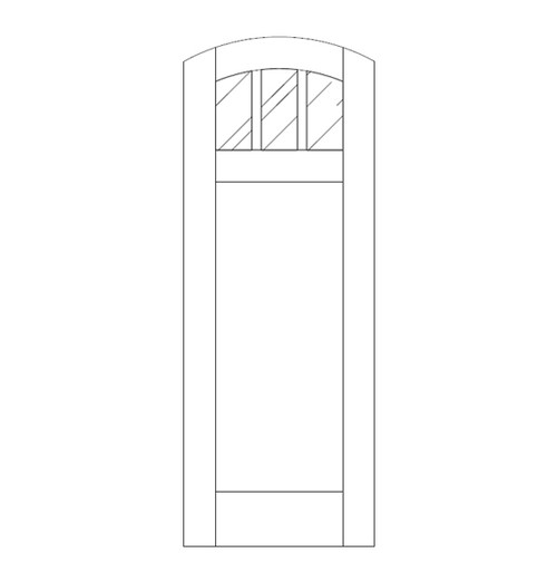 Flat Panel Wood Door (DM4510)
