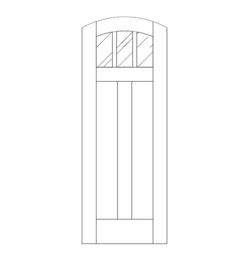 Flat Panel Wood Door (DM5510)