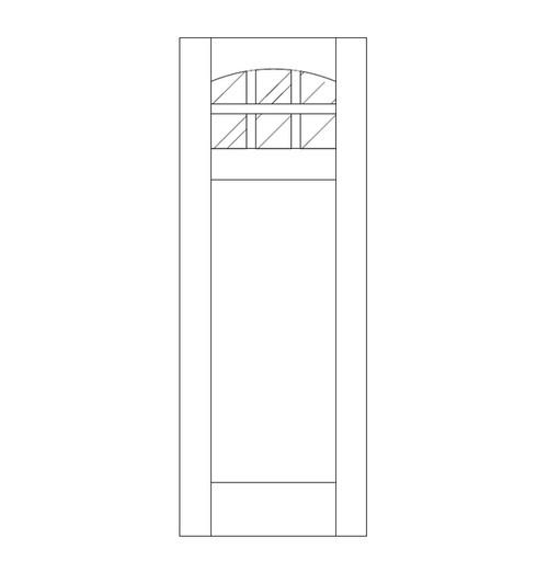 Flat Panel Wood Door (DM7100)