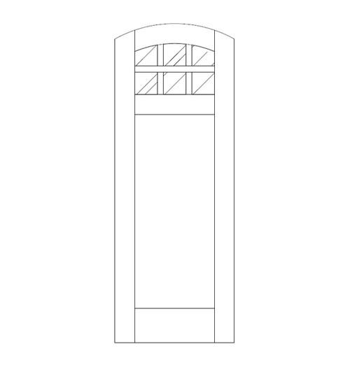 Flat Panel Wood Door (DM7500)