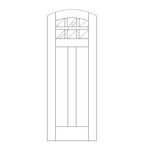 Flat Panel Wood Door (DM8500)