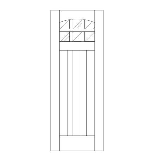 Flat Panel Wood Door (DM9100)