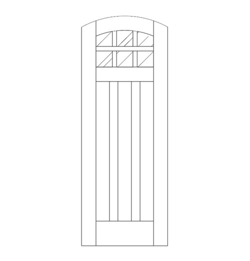 Flat Panel Wood Door (DM9500)
