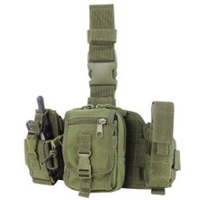 Condor MA25 Utility Leg Rig Drop Down Thigh MOLLE Platform 3 Pouches- OD Green/ Black/ Tan/ Coyote Brown