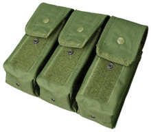 Condor MA33 MOLLE 7.62 mm / 5.62 mm Triple Rifle Magazine Pouch- OD Green/ Black/ Tan