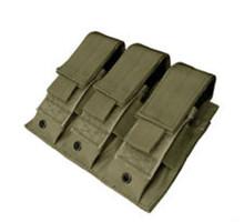 Condor MA52 MOLLE Tactical Triple Pistol Magazine Pouch- OD Green/ Black/ Tan/ Coyote Brown