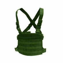 Condor MCR3 Tactical MOLLE Compact Modular Panel Pocket Chest Rig Vest- OD Green/ Black/ Tan