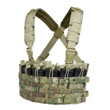 Condor MCR6-008 Rapid Assault Chest Rig Vest MOLLE 5.56 .223 Mag Pouch- MultiCam