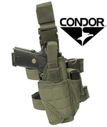 Condor TTLH Tornado Tactical Leg Pistol Holster Pouch- OD Green/ Black/ Tan