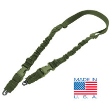 Condor US1002 CBT Cobra Type Tactical Two Point Bungee Sling- OD Green/ Black/ Tan