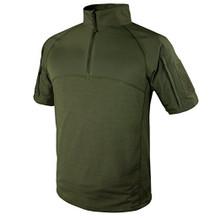 Condor 101144 Moisture Breathable Tactical 1/4 Zip Short Sleeve Combat Shirt- OD Green/ Black/ Tan/ Navy Blue