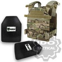 "Condor Sentry Plate Carrier (Multicam) + Pair of AR500 Armor® Level III 10"" x 12"" Curved ASC plates"