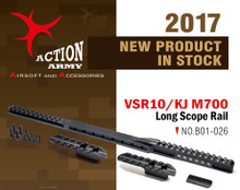 Action Army VSR10 / KJ M700 Long Scope Rail