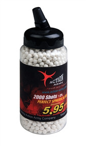 Action Army 6mm Perfect Airsoft BB BBs .30g 0.30g 2000 rds White