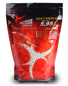 Action Army 6mm Perfect Airsoft BB BBs .25g 0.25g 4000 rds / 1 Kg Pack White