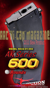 Airsoft Magazine (600 RDS) - Action Army AK47 Series HI-CAP for AEG Airsoft Gun