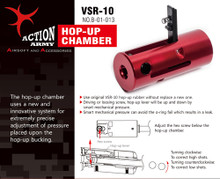 Action Army VSR10 Hop Up Chamber Marui VSR10 / G-Spec, JG BAR10, HFC VSR11