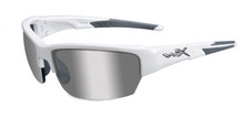 WILEY X SAINT GREY SILVER FLASH LENS/GLOSS WHITE FRAME