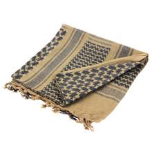 Condor 201-002 Shemagh 100% Cotton Scarf Head Wrap Bandana keffiyeh-  Tan/Black