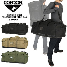 Condor 161 COLOSSUS Tactical Duffle Bag Backpack Shoulder Bag - OD Green/ Black/ Tan