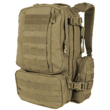 Condor 169 Tactical MOLLE Modular CONVOY Outdoor Hiking Backpack- OD Green/ Black/ Tan