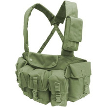 Condor CR Chest Rig with 7 Pouches for 5.56mm Magazine Carrier Vest- OD Green/ Black/ Tan