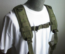 Condor 215 Tactical H-Harness for Battle Belt and Riggers Belt- OD Green/ Black/ Tan
