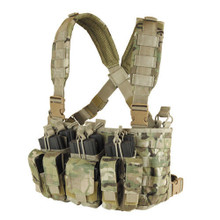Condor MCR5-008 Tactical Recon Chest Rig Vest 5.56 .223 Mag Pouch - MultiCam