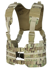 Condor MCR7-008 MOLLE Tactical Ronin Chest Rig Split Chest Rig Vest - MultiCam