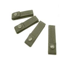 """Condor 223 OD 4"""" MOD Straps 4pk MOLLE PALS Modular Gear Web Attachment Tie- OD Green/ Black/ Tan"""