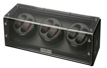 Watch Winder | Diplomat Gothica Six Watch Winder (Black Wood)