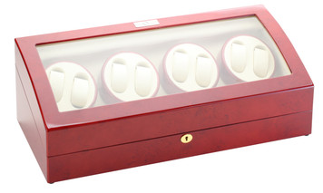 Watch Winder for Eight | Diplomat Estate Cherry Wood Finish