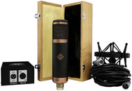 "Telefunken R-F-T CU-29 ""Copperhead"" - wood box, shockmount, psu, and cable"