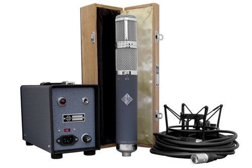 Telefunken R-F-T AR-70 - wood box, psu, cable, and shockmount