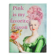 Pink Is My Favorite Crayon - Large Canvas