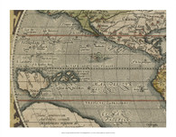 Antique World Map Grid IV