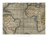 Antique World Map Grid V