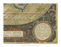 Antique World Map Grid IX
