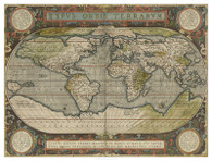 Antique World Map 36x48