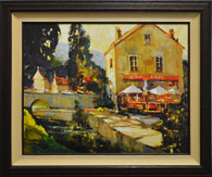 Pont Aven River Cafe by Ted Goerschner