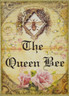 "The Queen Bee  Queen of My Heart Glitter Art Paisley Buescher Canvas Art 5""W x 7""H x 1.5""D"